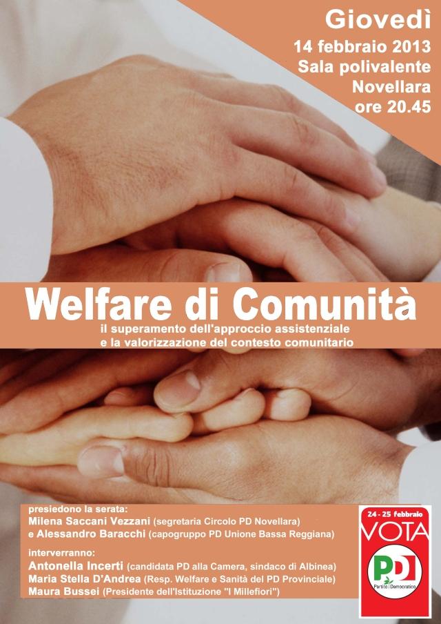locandina Welfare di comunità